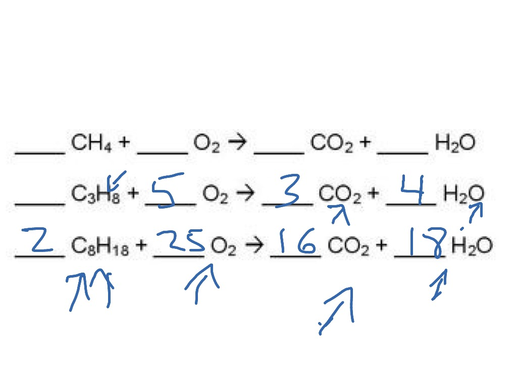 Showme Combustion Reaction Example