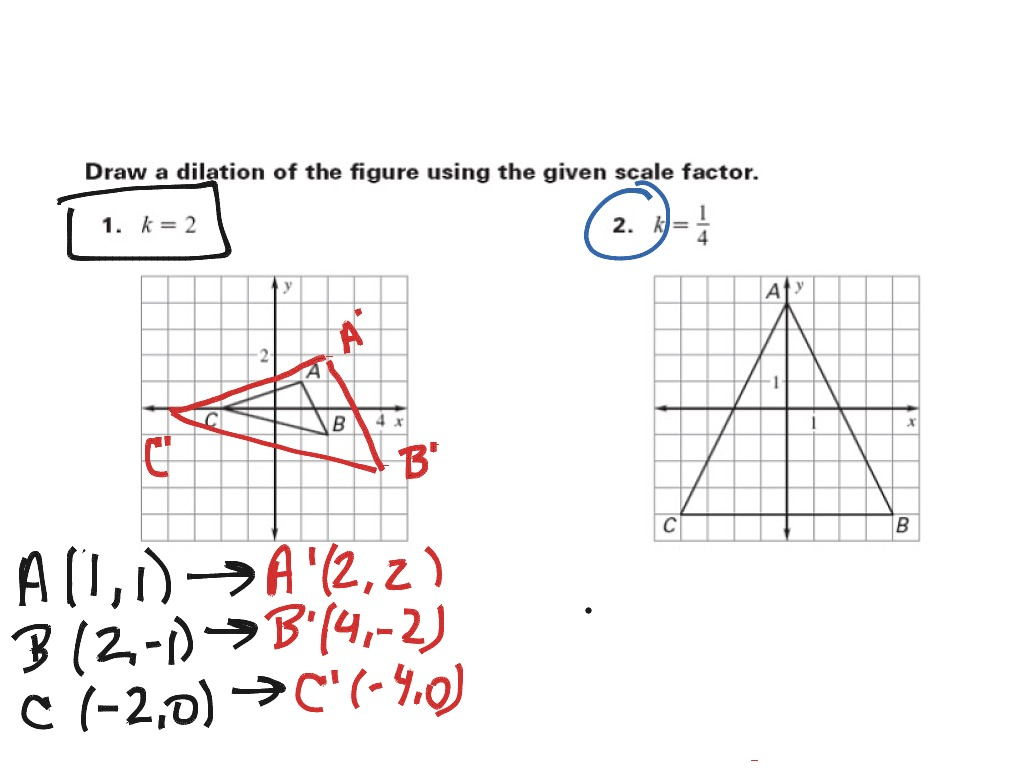 ShowMe geometry dilation – Dilation Worksheet