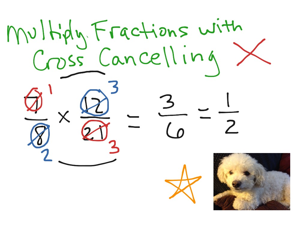Showme cancelling down most viewed thumbnail multiply fractions with cross ccuart Gallery