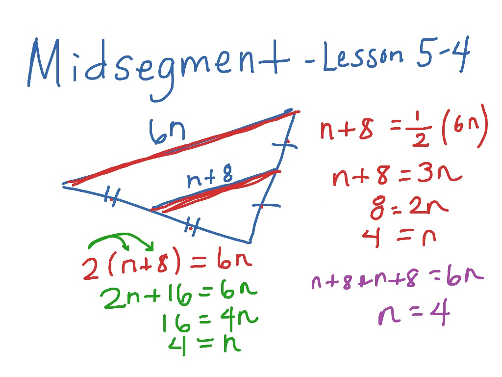 Triangle mid segment theorem proof, converse & examples | math.