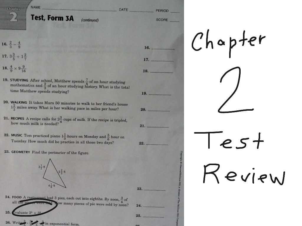 ShowMe - 7th grade chapter 4 test review
