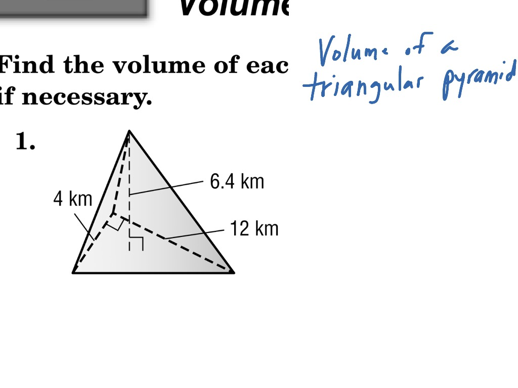 Volume of a triangular pyramid math geometry showme ccuart Choice Image