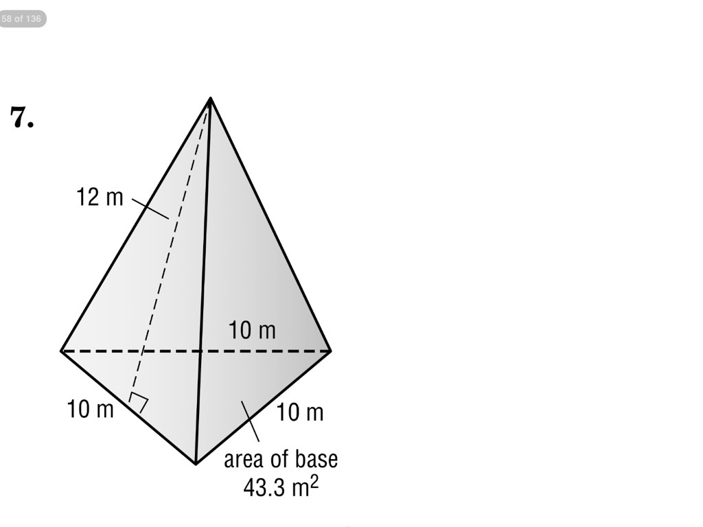 Surface Area of a triangular pyramid | Math, geometry | ShowMe