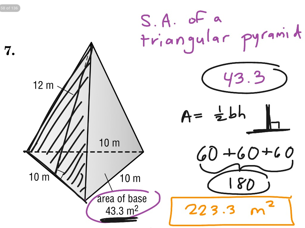 Surface area of a triangular pyramid math geometry showme ccuart Choice Image