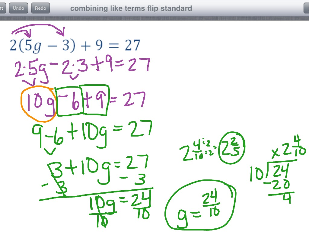 worksheet Like Terms Worksheets showme combine like terms with fractions most viewed thumbnail combining flip