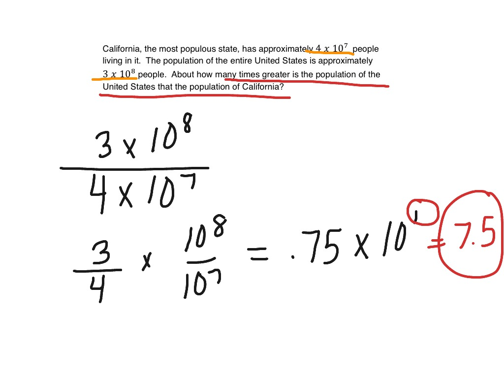 Scientific Notation Word Problems Math Showme