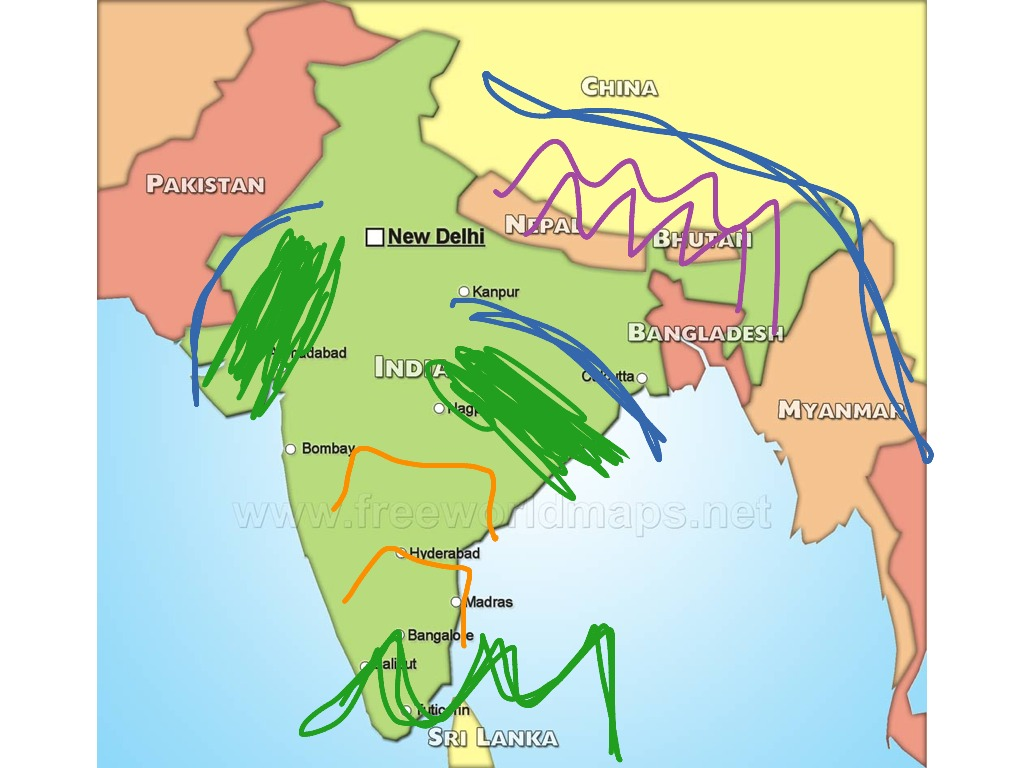 Indian map | History, Social Stus, ancient india | ShowMe on partition india map, animals india map, only india map,