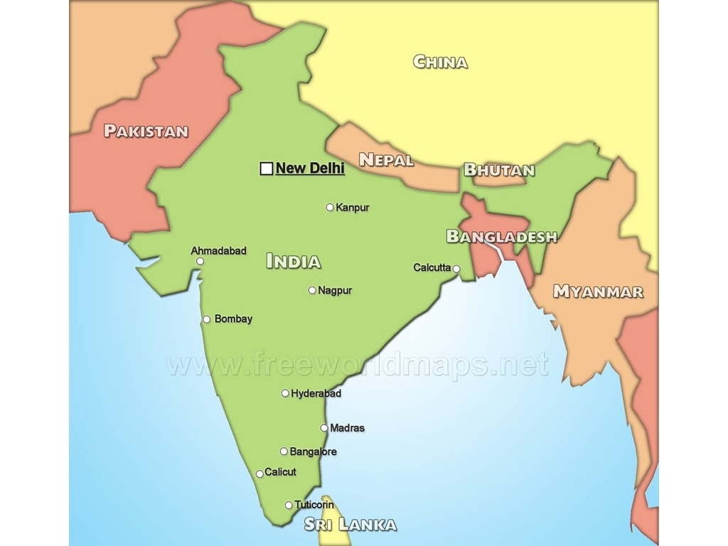 Map Of India And Geographic Features History Social Studies