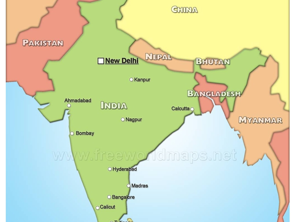 Show Me Map Map of India | History | ShowMe