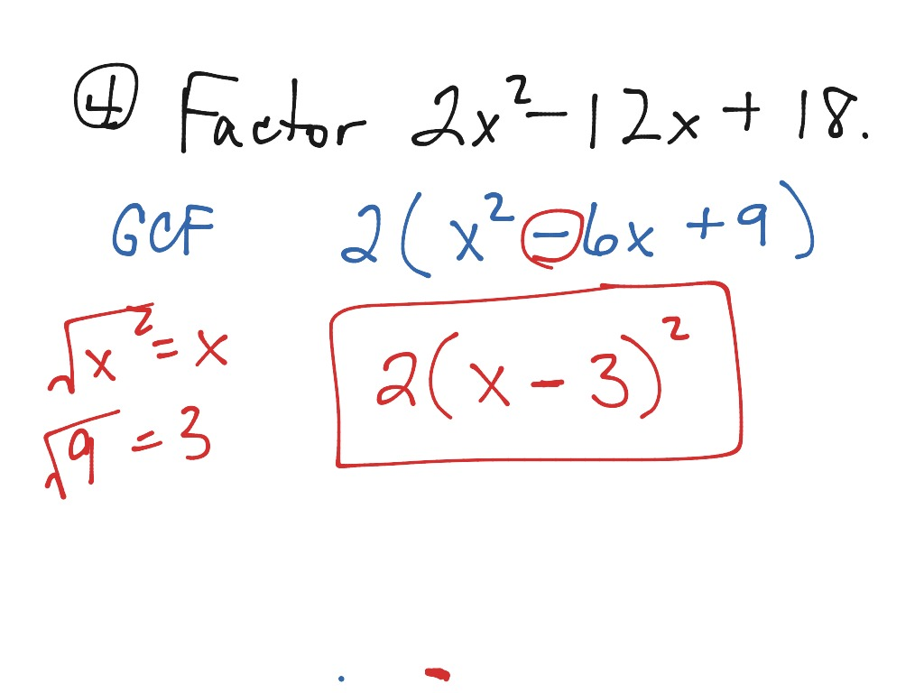 ShowMe lesson 95 factoring trinomials – Factoring Special Products Worksheet