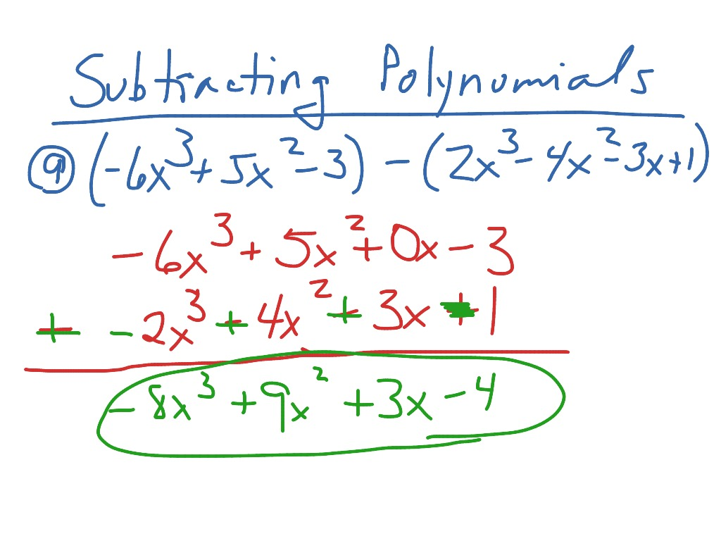Showme Add And Subtract Polynomials Vertically