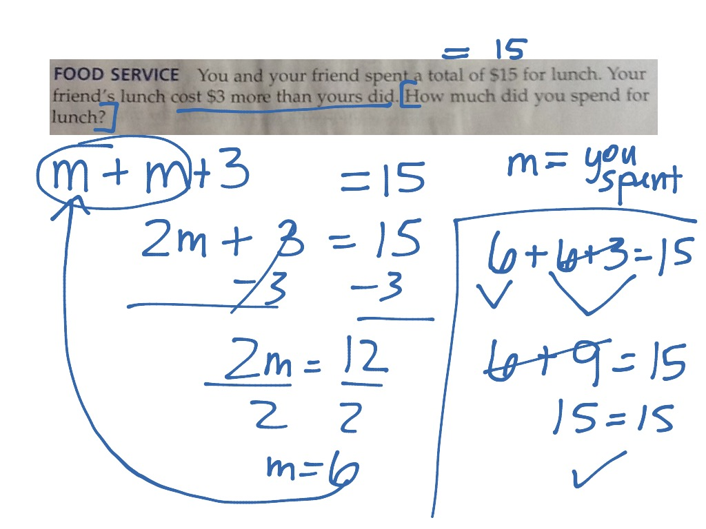 Showme Solving Two Step Inequalities Word Problems