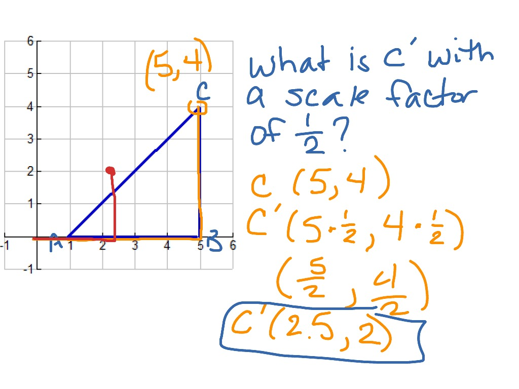 Scale Factor and Dilation – Scale Factor Worksheet