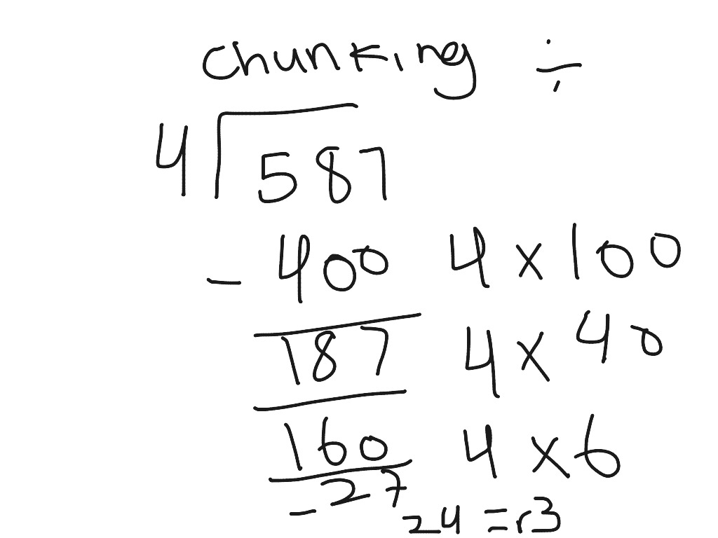 ShowMe - Division chunking with decimals