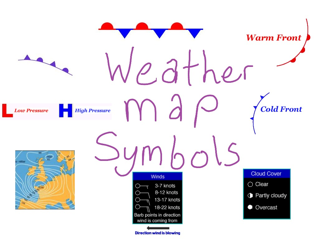 Weather Map Symbols Science Showme