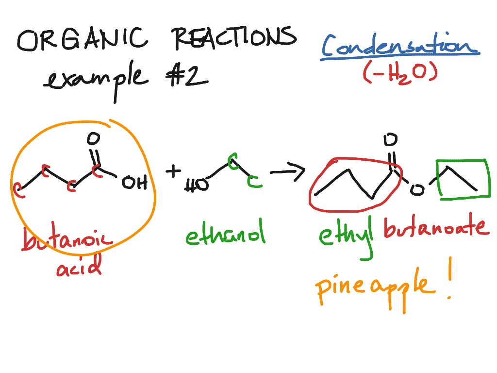 Organic Reactions Condensation 2nd Example Chemistry Organic