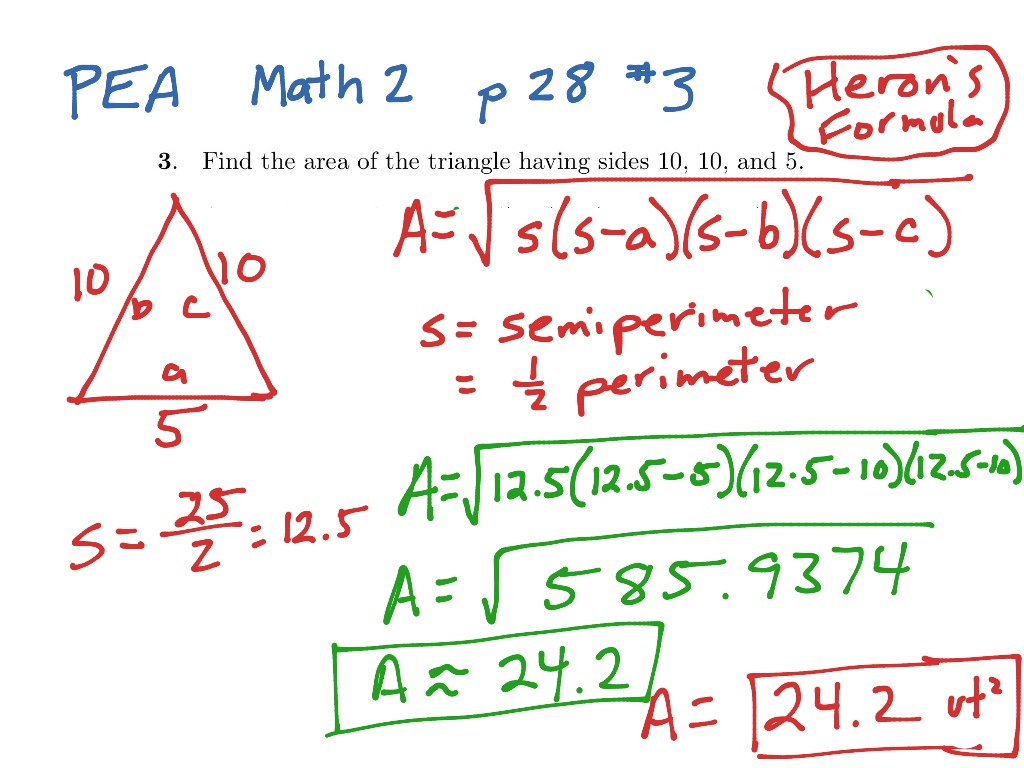 Area of triangle given 3 side lengths math geometry triangles area of triangle given 3 side lengths math geometry triangles area showme ccuart Choice Image
