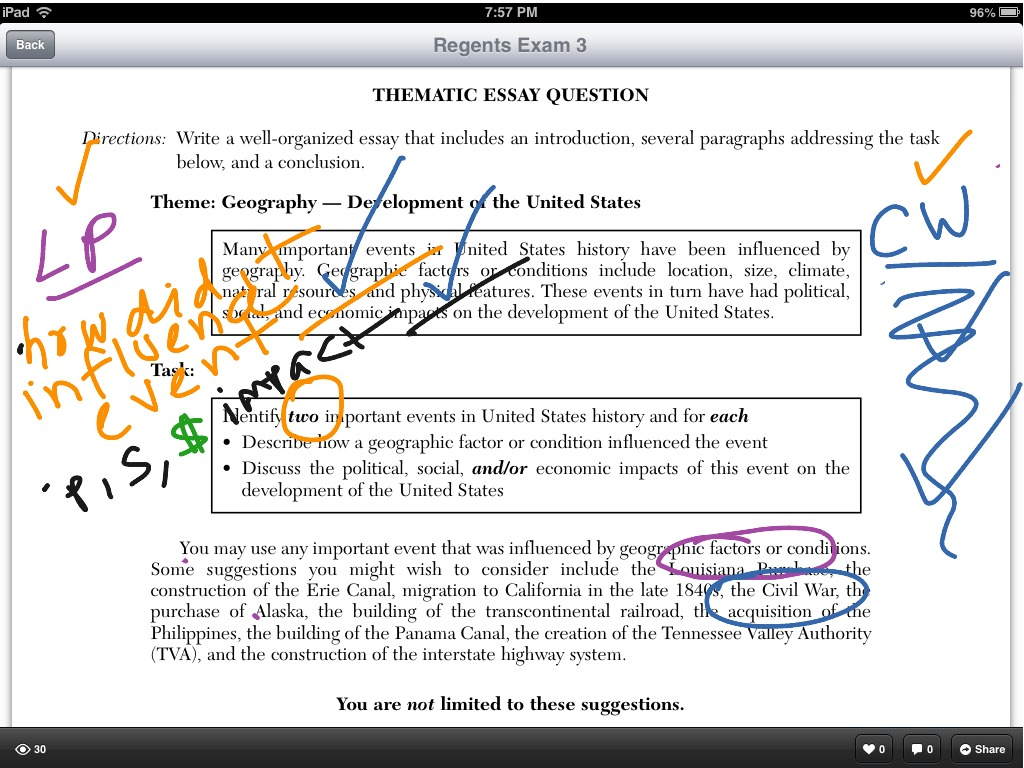 How to write a U S  History thematic essay | History | ShowMe
