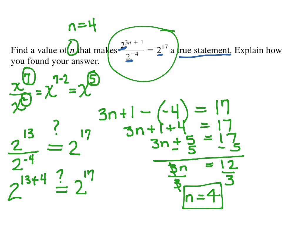 ShowMe simplifying expressions with negative exponents – Exponential Expressions Worksheet