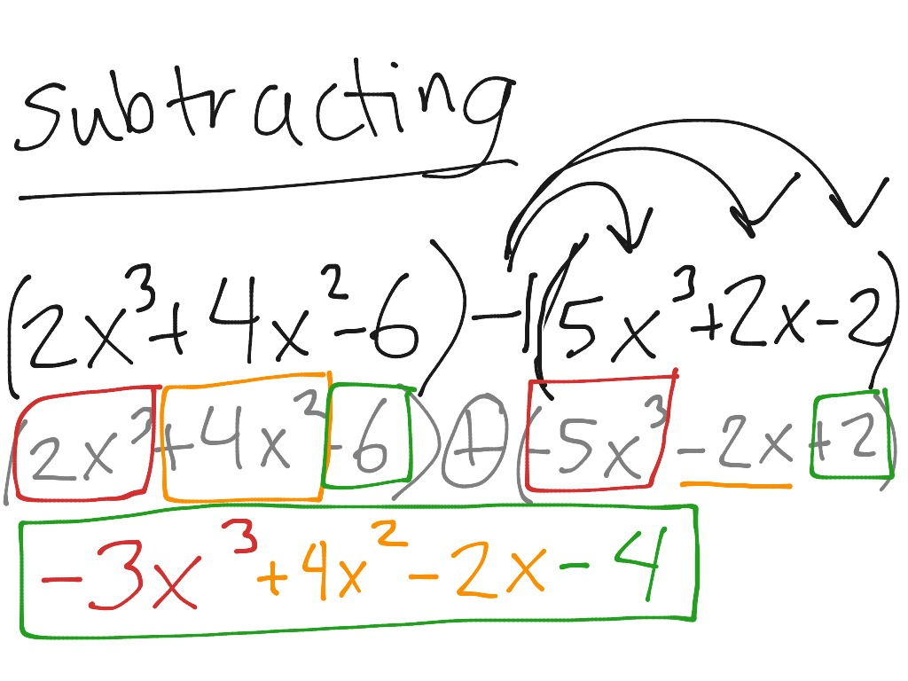 ShowMe adding subtracting polynomials – Adding Polynomials Worksheet