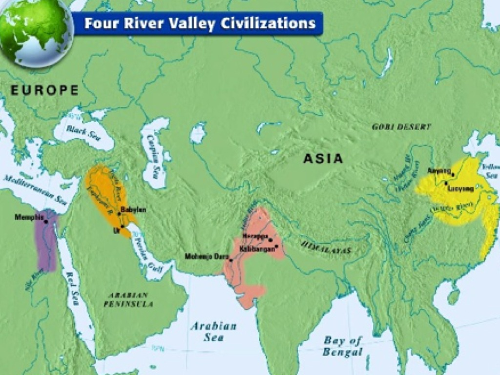 Early River Valley Civilizations Map Early River Valley Civilizations | ShowMe