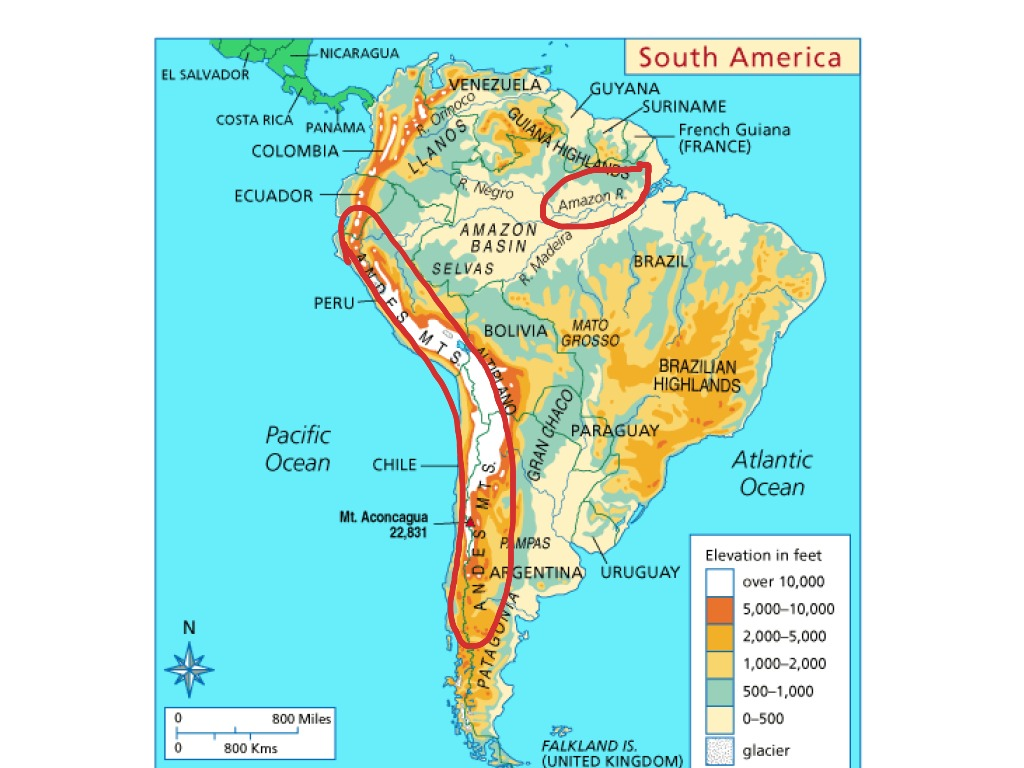 Physical Map Of South America History Social Studies Geography Showme