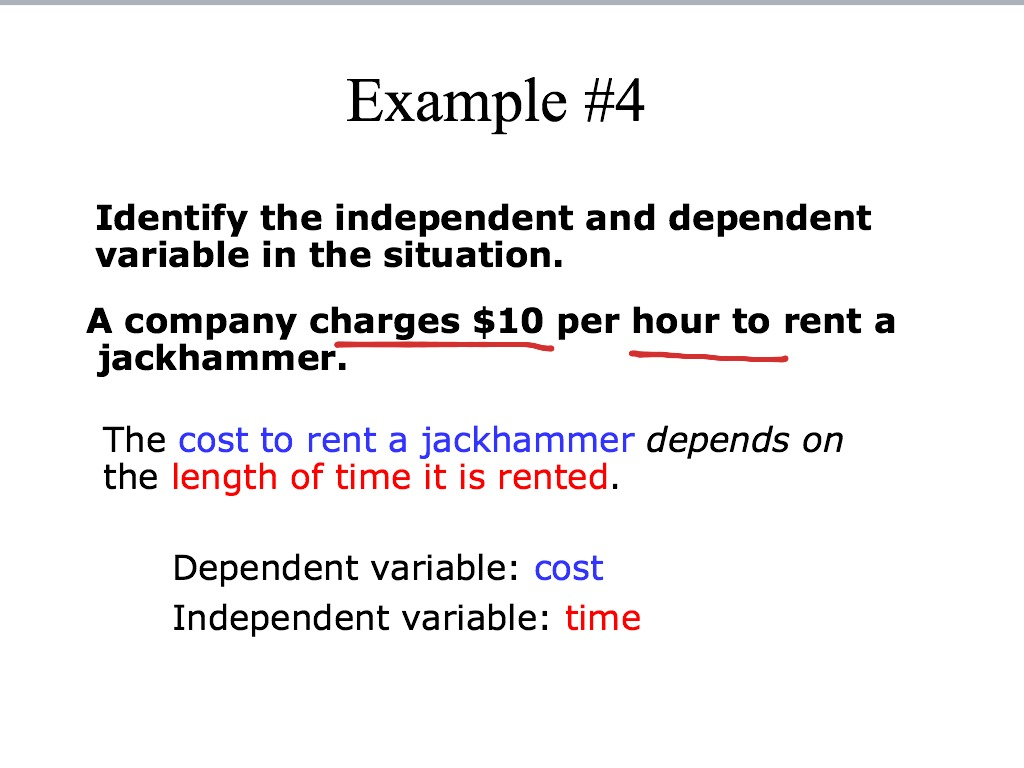 Independent And Dependent Variables Math Algebra