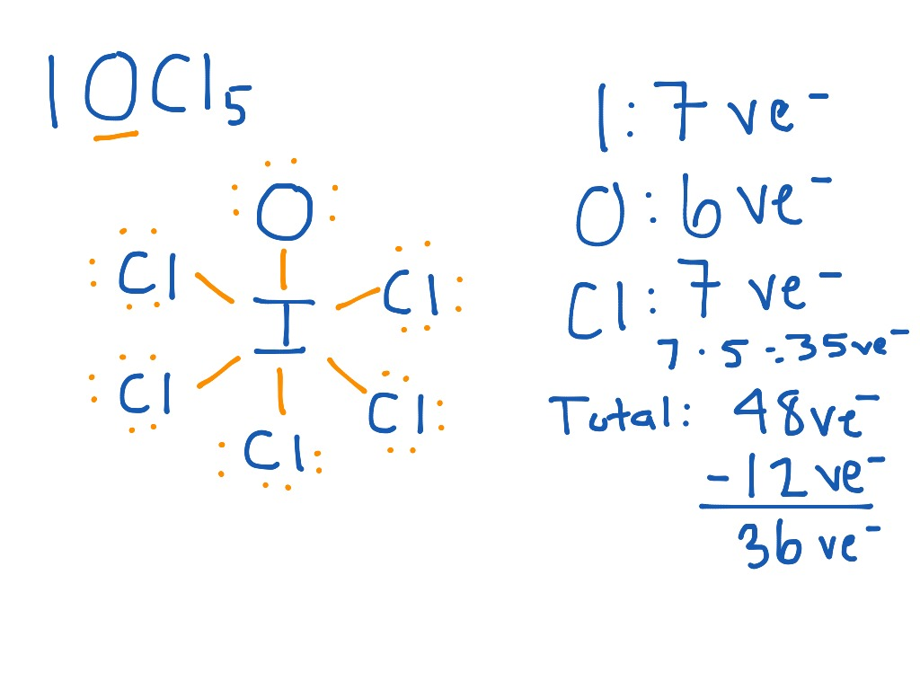 Lewis dot structure iocl5 science showme pooptronica