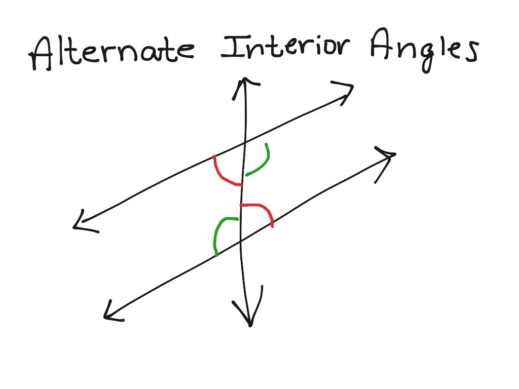 Alternate Interior Angles Math Geometry Angles Showme