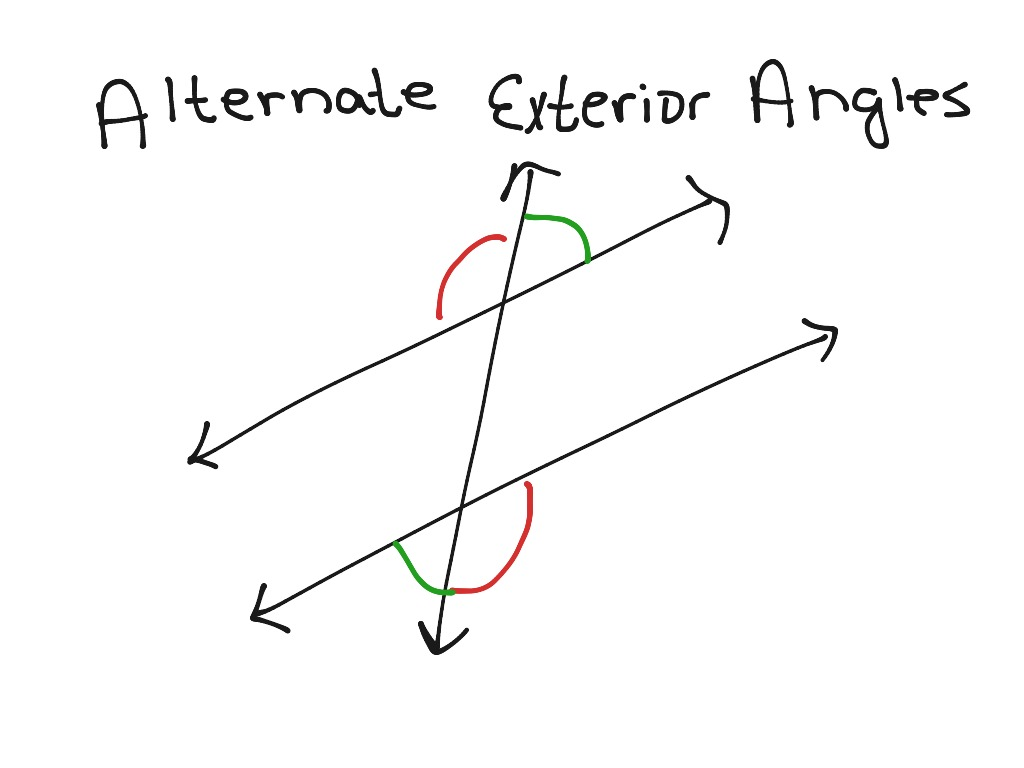 Alternate Exterior Angles | Math, Geometry, Angles | ShowMe