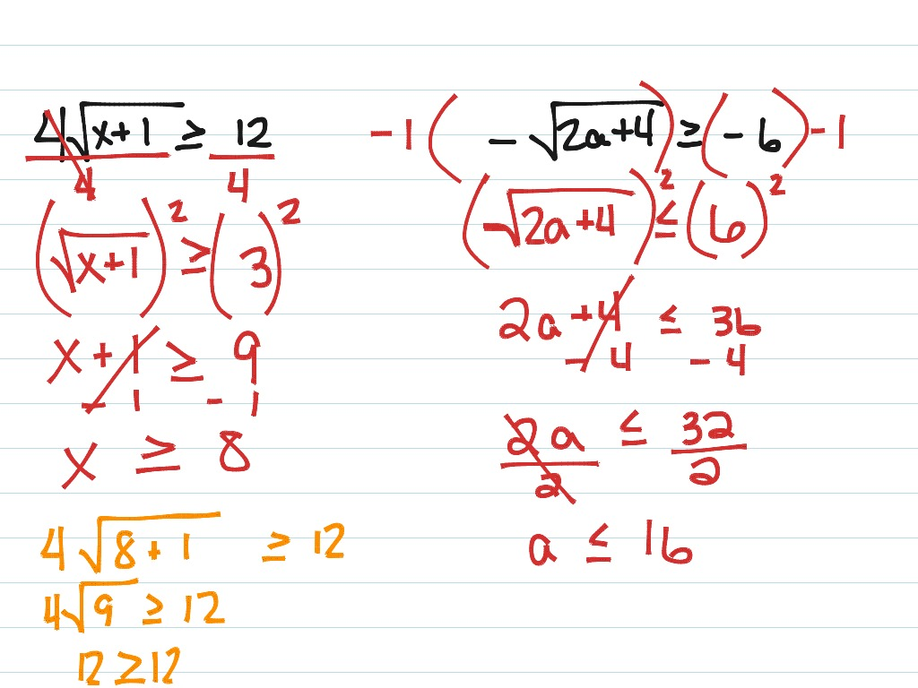 ShowMe - solving radical inequalities