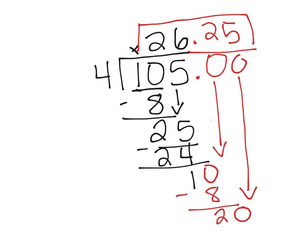 Division (changing remainders into decimals) | Math ...