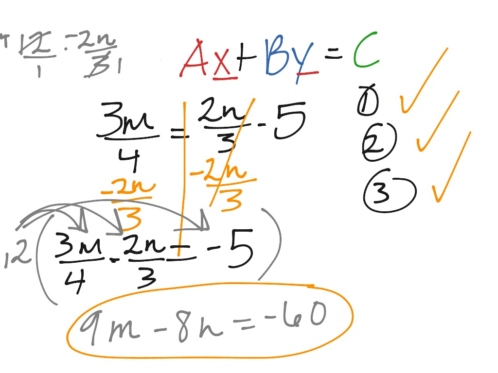 Showme write an equation in standard form with integer coefficients most viewed thumbnail standard form equations falaconquin