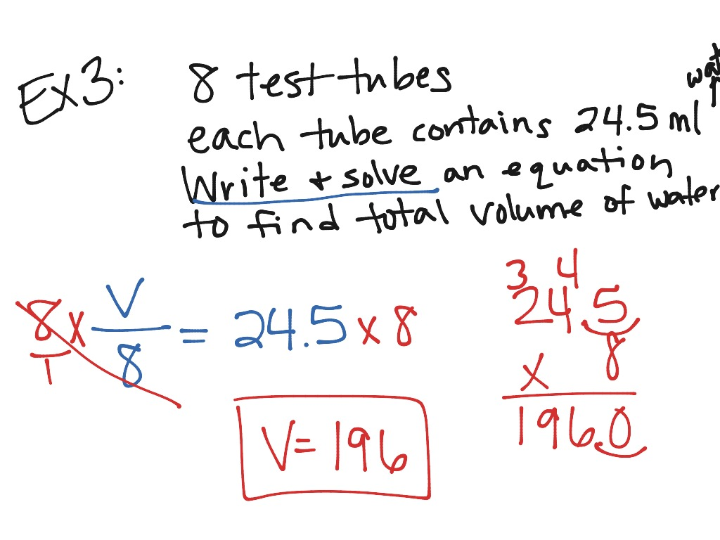 Lesson 8 6  Solve Multiplication And Division Equations