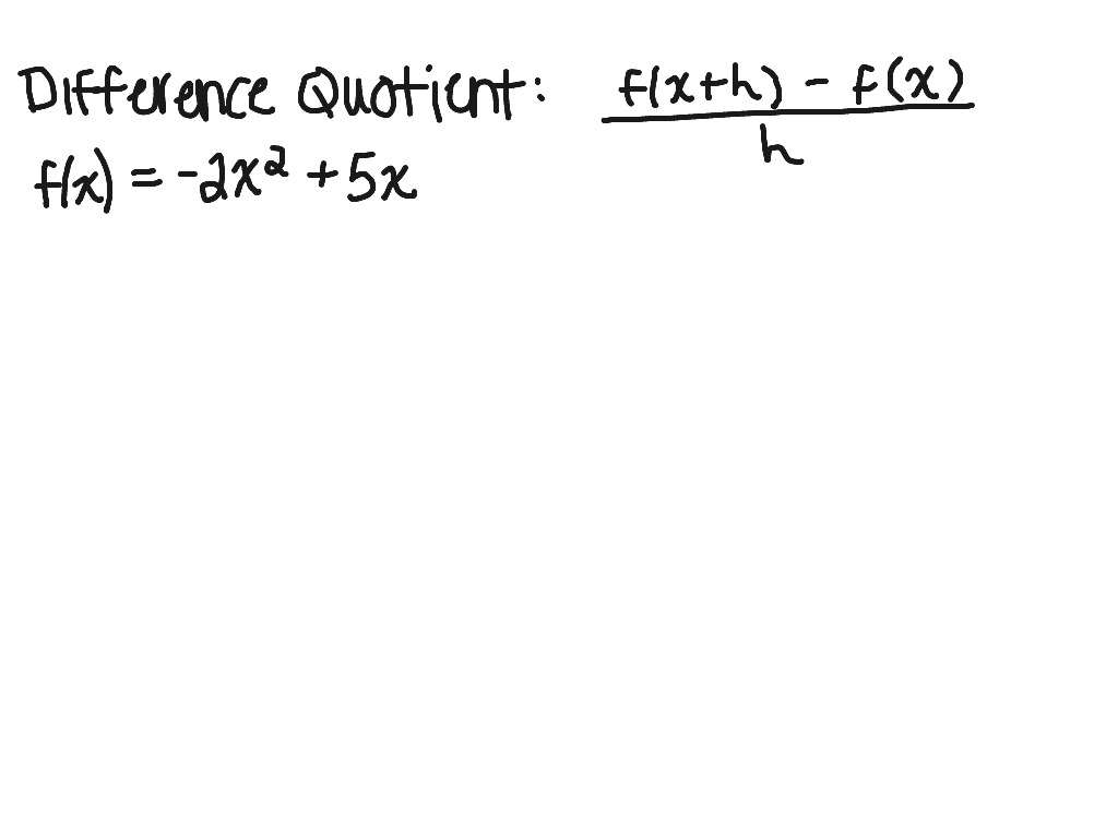 Worksheets Difference Quotient Worksheet difference quotient 2 showme