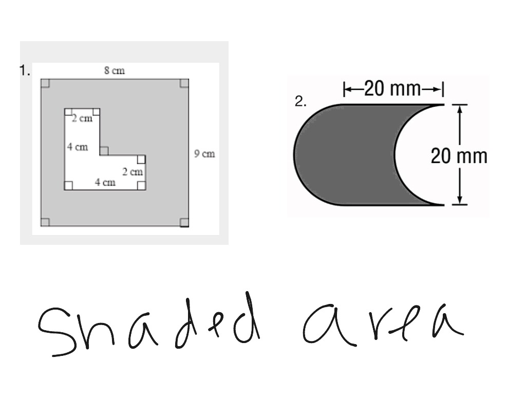 ShowMe shaded area – Find the Area of the Shaded Region Worksheet