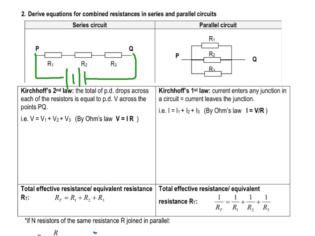 Chap 20 Dc Circuits Resistance Series N Parallel Showme Resistors In And