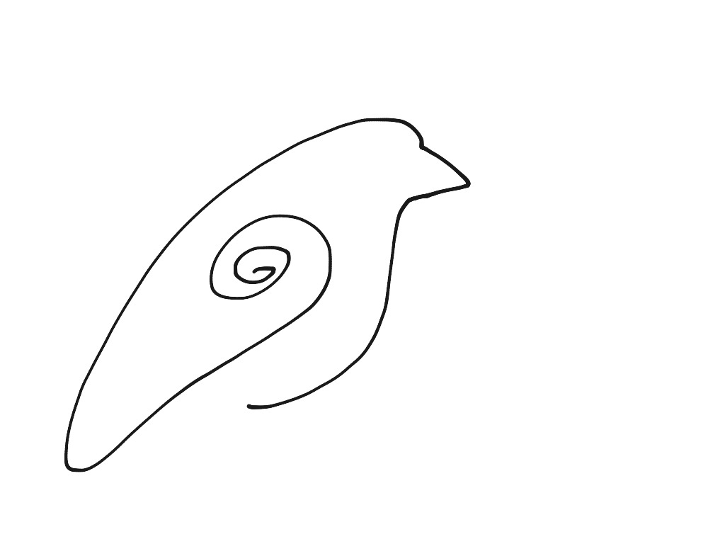 This is a graphic of Influential Picasso Bird Drawing