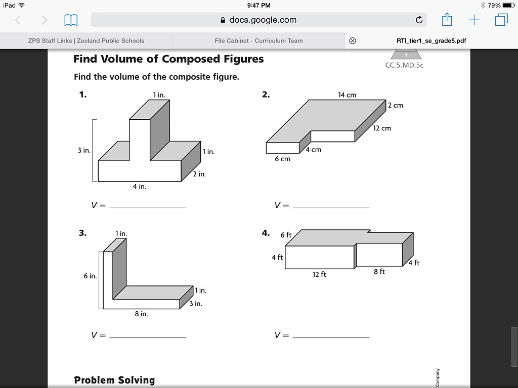 worksheet Area Of Composite Figures Worksheet Answers volume of composite figures 8 13 math 5th grade elementary showme
