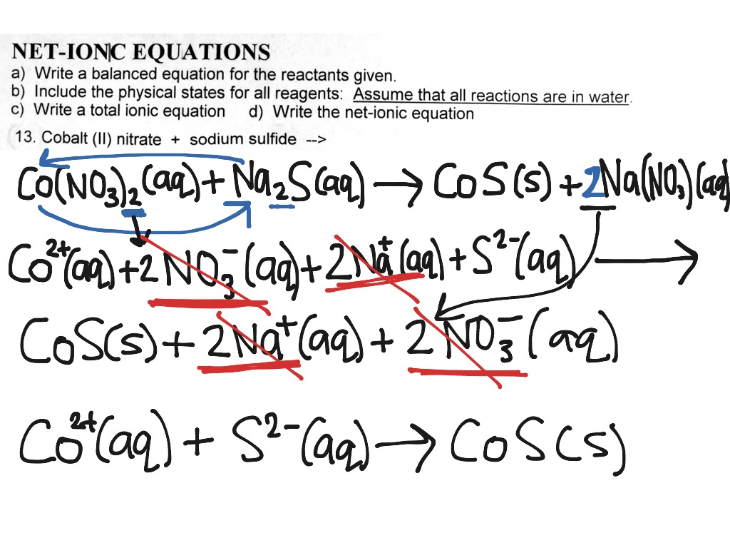 write the net ionic equation for the following reaction The difference between molecular equations, complete ionic equations and net   of nacl, it disassociates in na and cl so, can we call this decompostiton  reaction  and liquids (eg, h2o) are not written as ions when writing ionic  equations.