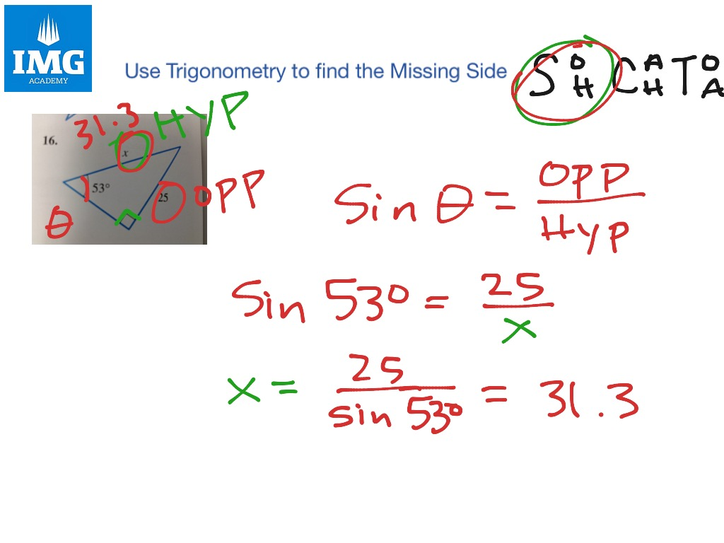 ShowMe - Find the missing side of each triangle simplest radical form