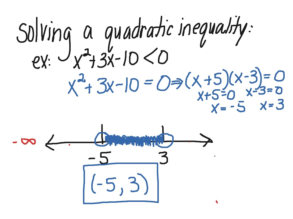 Worksheets Solving Quadratic Inequalities Worksheet showme solving quadratic inequalities most viewed thumbnail a inequality