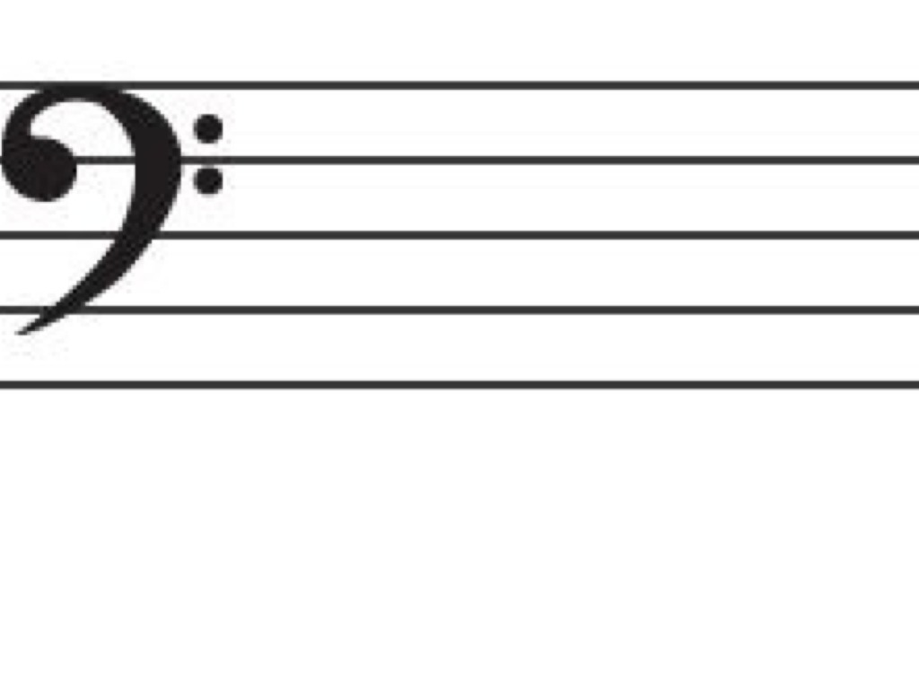 letter names for the bass clef staff music music theory art showme