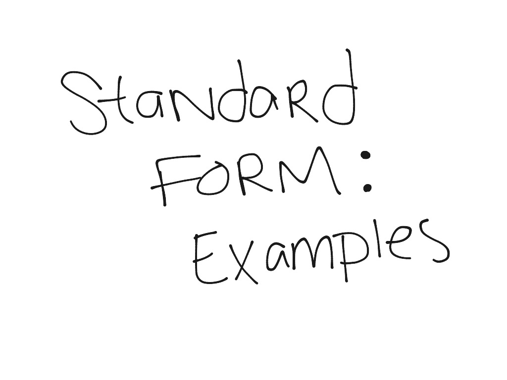 Showme standard form most viewed thumbnail standard form falaconquin
