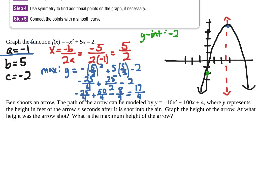 Showme 91 graphing quadratic functions answer key most viewed thumbnail alg 91 graphing quadratic functions falaconquin