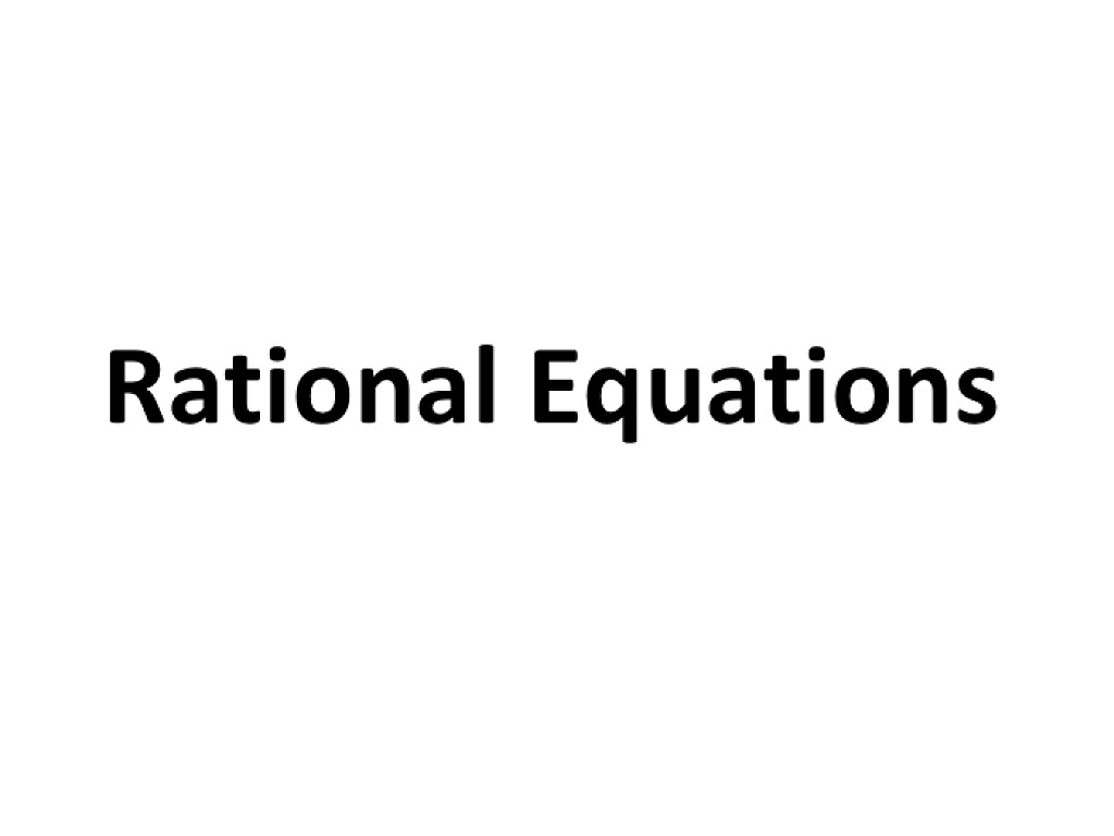 most viewed thumbnail - Rational Equations Worksheet