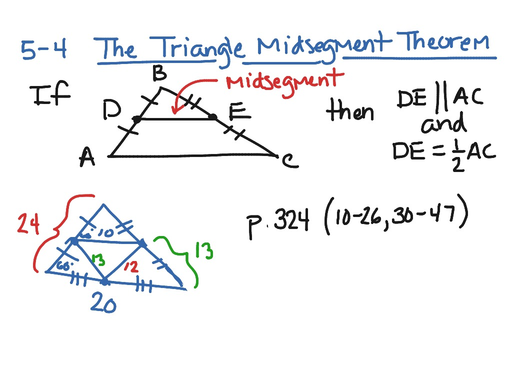54 Triangle Midsegment Theorem Math geometry – Midsegments of Triangles Worksheet