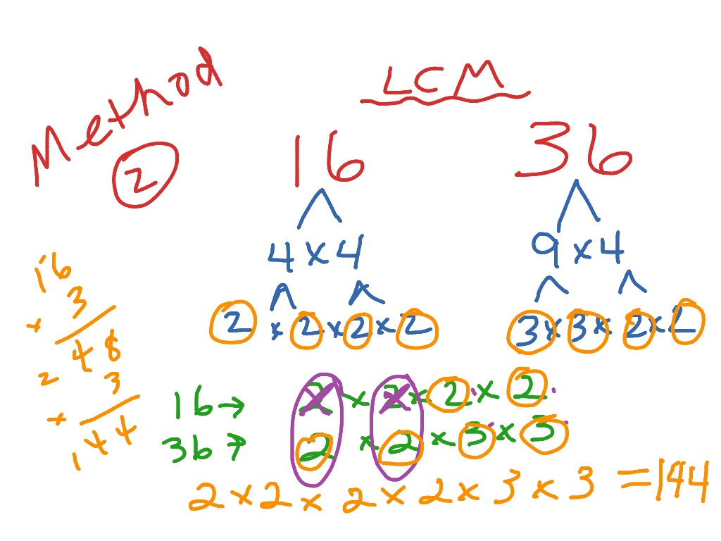 least common multiple lcm  math fractions elementary math th  least common multiple lcm  math fractions elementary math th grade  math lcm nf  showme