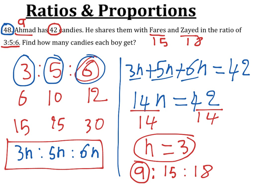 extended ratio | math, algebra, solving-equations, proportions | showme
