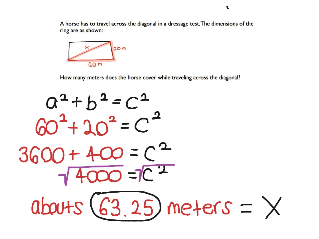 Pythagorean Theorem – Eighth Grade Math Worksheets